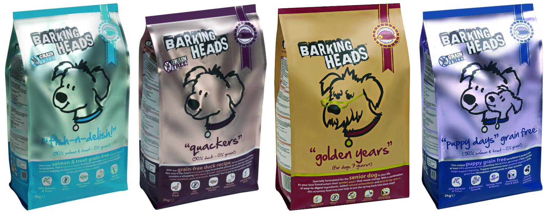 Линейка кормов для собак Barking Heads