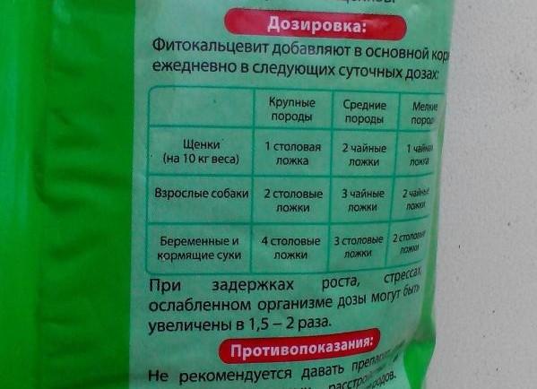 Инструкция по применению Фитокальцевита