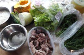 Натуральная пища для йорка