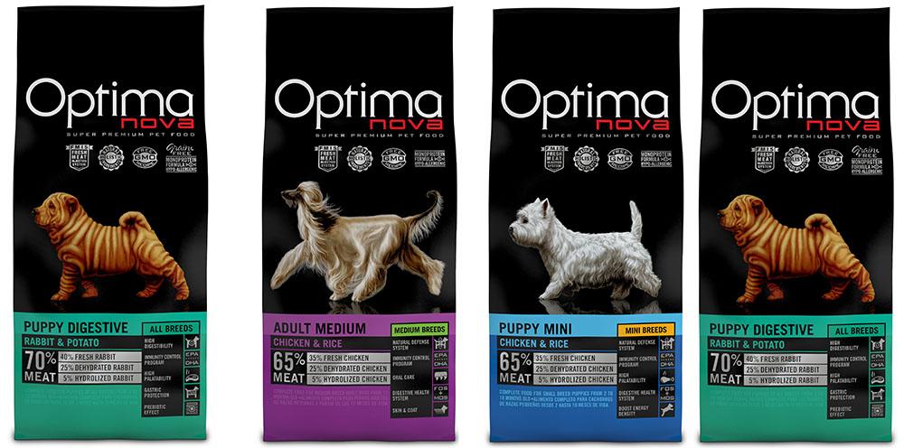 Корма Optima Nova для собак