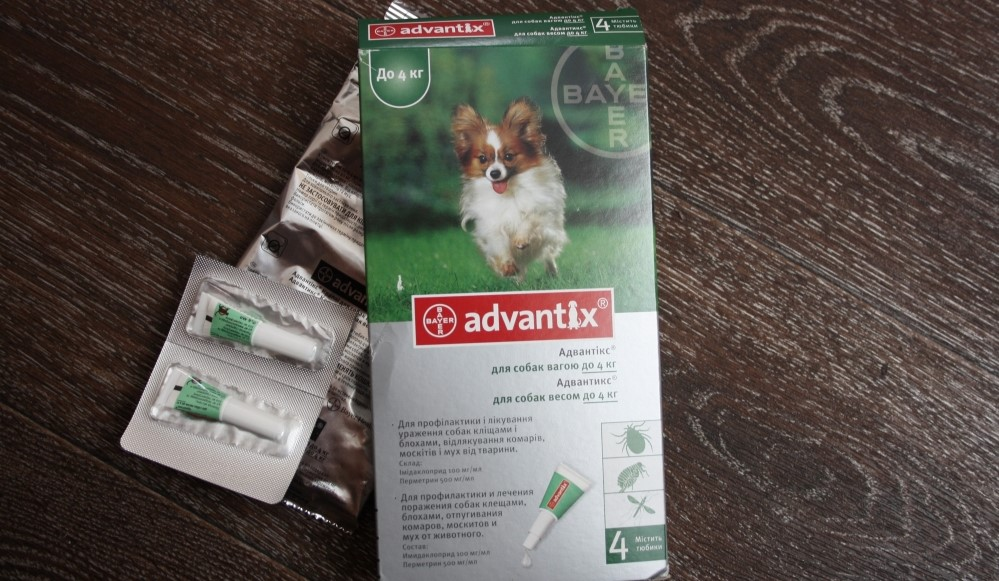 Капли Адвантикс для собак